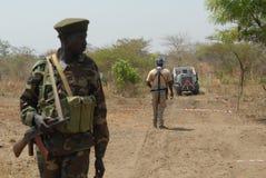 3个战士苏丹人 库存照片
