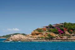3个房子海岛 免版税库存图片