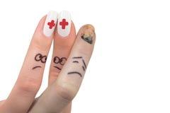 3个手指显示 免版税图库摄影