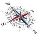 3个指南针d玫瑰色向量风 免版税库存图片
