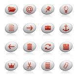 3个按钮椭圆图标万维网 免版税库存图片