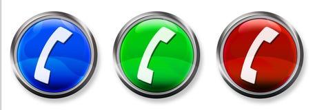 3个按钮d电话rgb 图库摄影