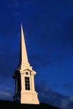 3个教会尖顶日落 免版税库存图片