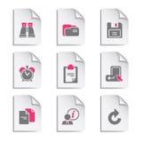 3个文件灰色集 免版税库存图片