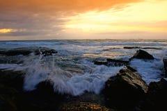 3个早晨海边 库存照片