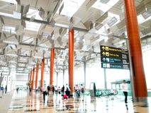 3个机场changi新加坡终端 免版税库存图片