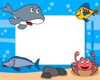3个框架生活照片海运 向量例证
