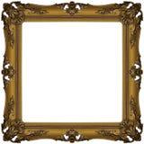 3个框架金子 库存图片