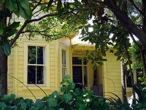 3个殖民地居民房子 免版税图库摄影