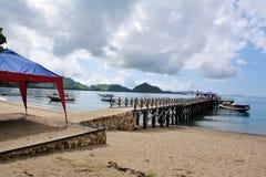 3个海岛komodo 免版税库存图片