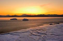 3个海湾横向vladimir冬天 免版税库存图片