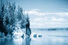 3个湖天空 库存照片