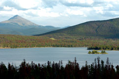 3个湖山 库存照片