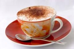 3个热奶咖啡杯子 库存照片