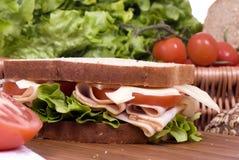 3个熟食店三明治 库存图片