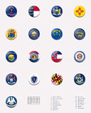 3个球标志印花税状态状态团结了 库存图片