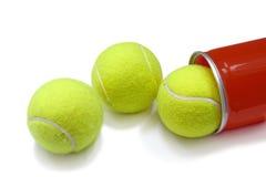 3个球球网球管 库存照片