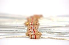 3个电子电阻器 库存图片