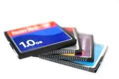 3个看板卡compactflash 免版税库存图片