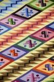 3个秘鲁人纺织品 免版税库存照片