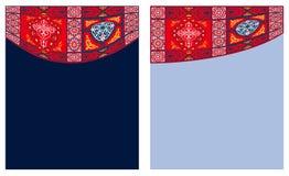 3个窗帘埃及织品样式帐篷 库存图片