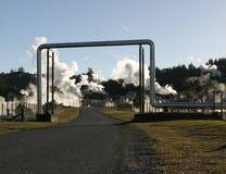 3个管道蒸汽 库存照片