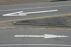 3个箭头路 图库摄影