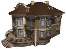 3个系列房子 库存图片