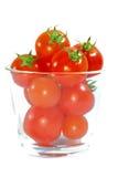 3个红色系列蕃茄 库存照片