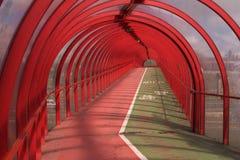 3个红色隧道 库存图片