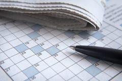3个纵横填字谜 免版税库存照片