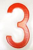 3个编号红色 免版税库存图片