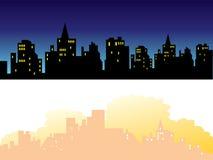 3个背景城镇 免版税库存图片