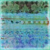 3个背景蜡染布海浪 库存例证
