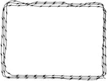 3个背景铁丝网 库存例证