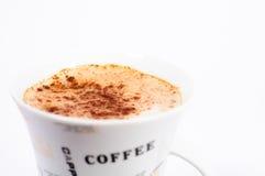 3个背景capuccino杯子白色 免版税图库摄影