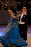 3个舞厅冠军舞蹈国民 免版税库存照片