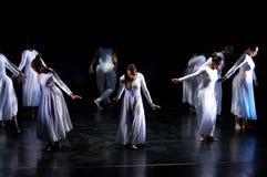 3个舞蹈现代性能 库存图片