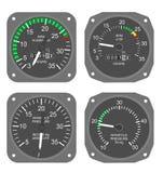 3个航空器测量仪 库存图片
