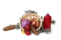 3个节假日装饰品 免版税图库摄影