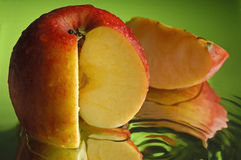 3个苹果红色 库存照片
