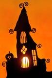3个蜡烛万圣节影子 库存图片