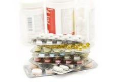 3个被包装的药片 免版税库存照片