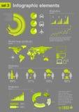 3个要素图标infographics集 免版税库存照片