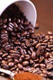 3个豆咖啡疯狂的系列 免版税库存照片