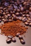 3个豆咖啡疯狂的系列 库存照片