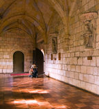 3个走廊修道院 图库摄影