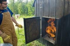3个锅炉木头 免版税库存照片
