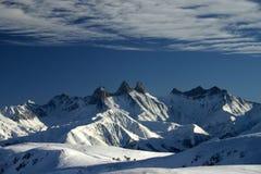 3个阿尔卑斯法语峰顶 库存图片