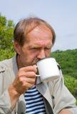 3个饮料人茶 库存图片